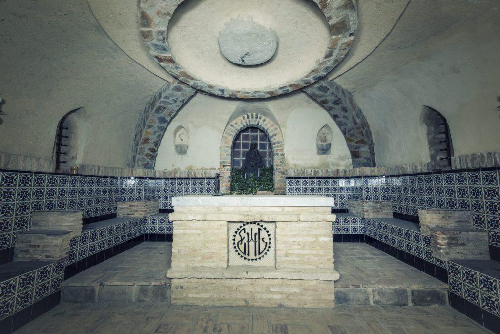 Interior capilla virgen de la hiedra