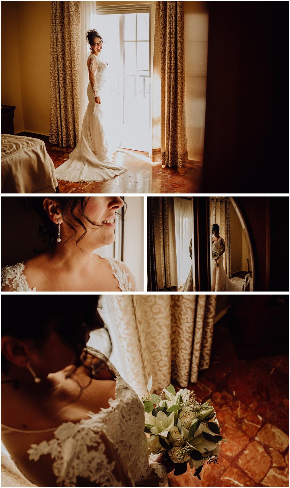 fotos de una novia en Los Villares
