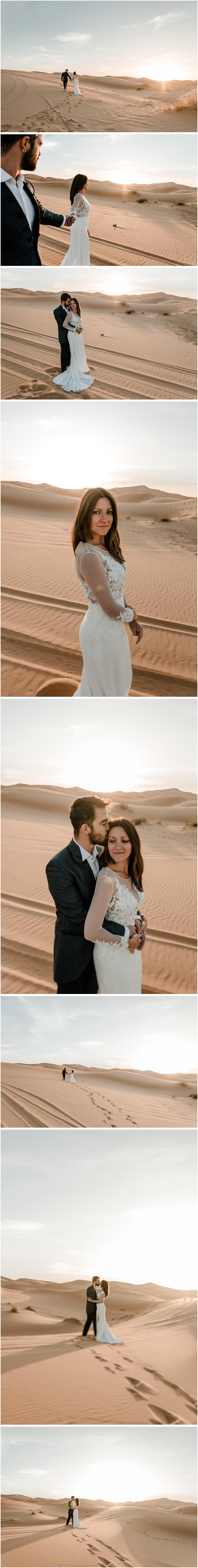 fotos de postboda en el desierto del sáhara