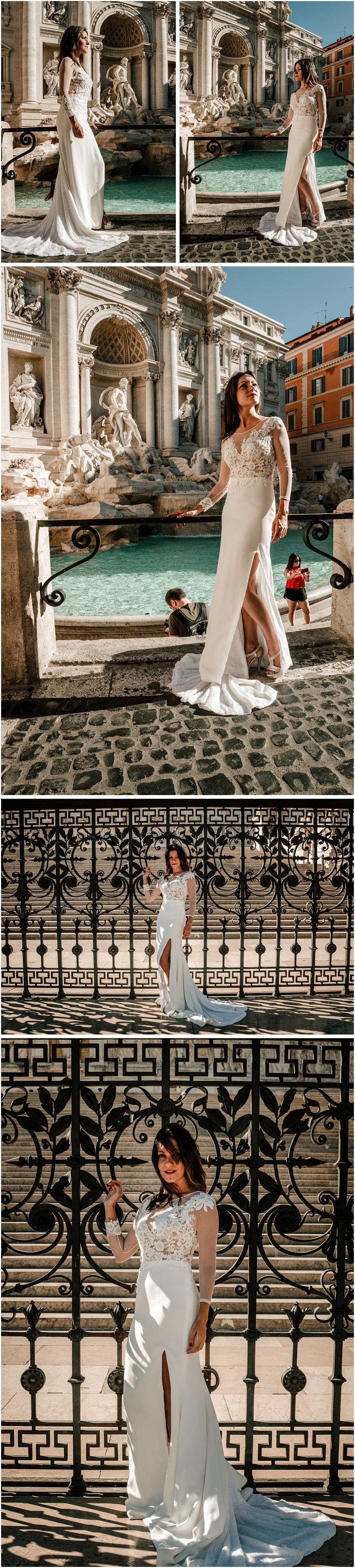 Una novia en la fontana di Trevi