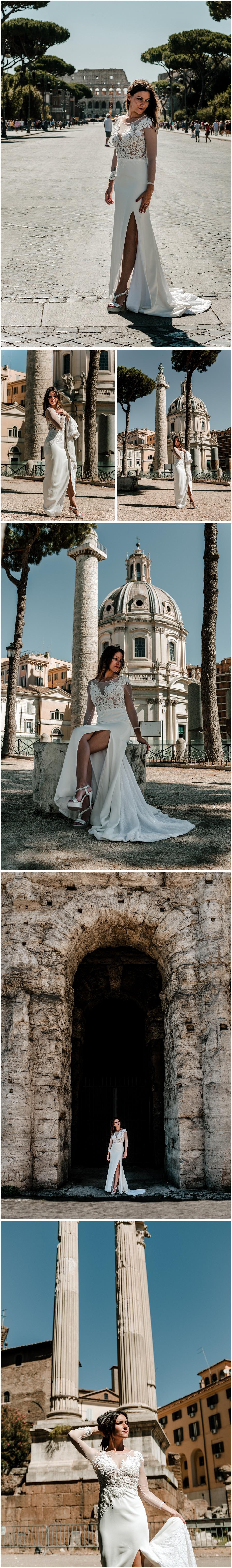 Una novia en el coliseo Romano