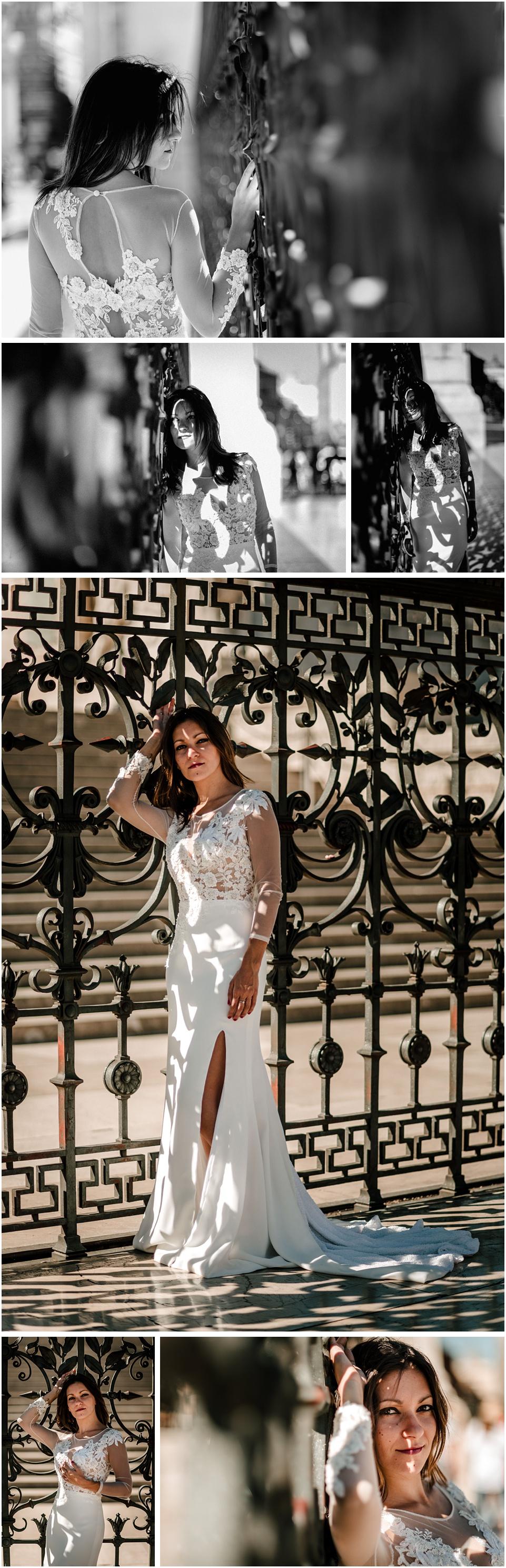 mujer vestida de novia en el monumento a la patria, Roma