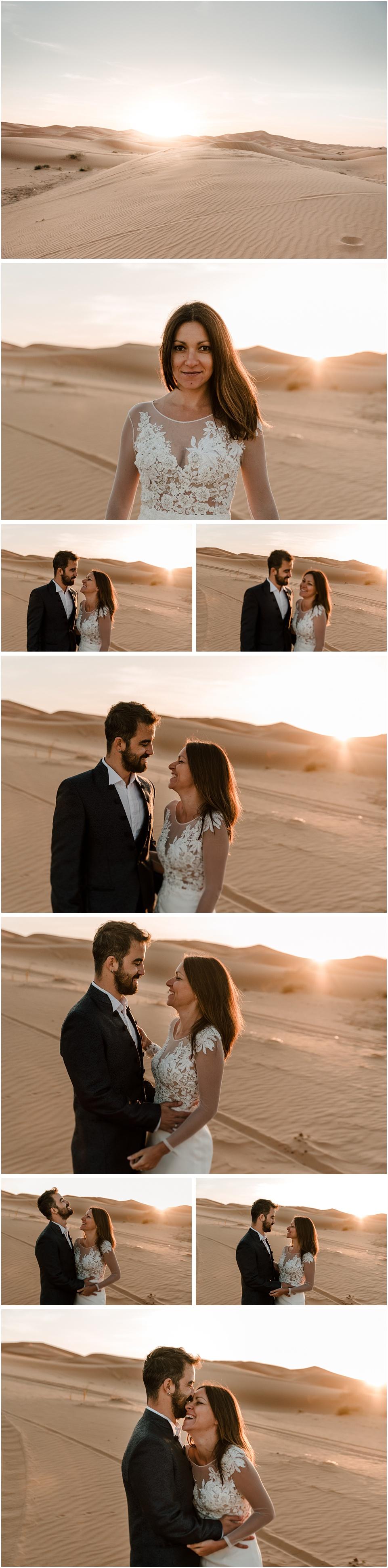 unos novios en el desierto del sáhara