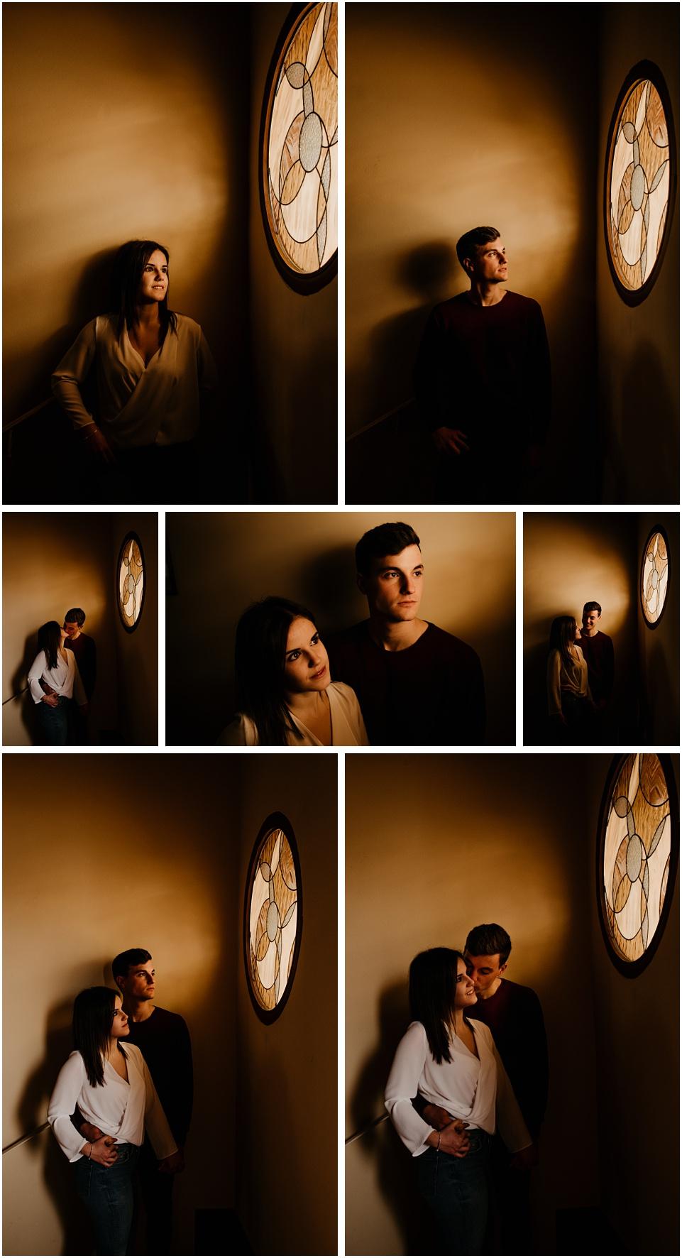 fotografia de pareja en casa