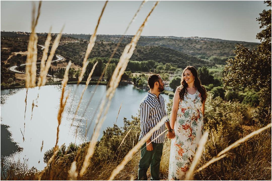 Fotos de pareja en lagunas de Ruidera, ciudad Real