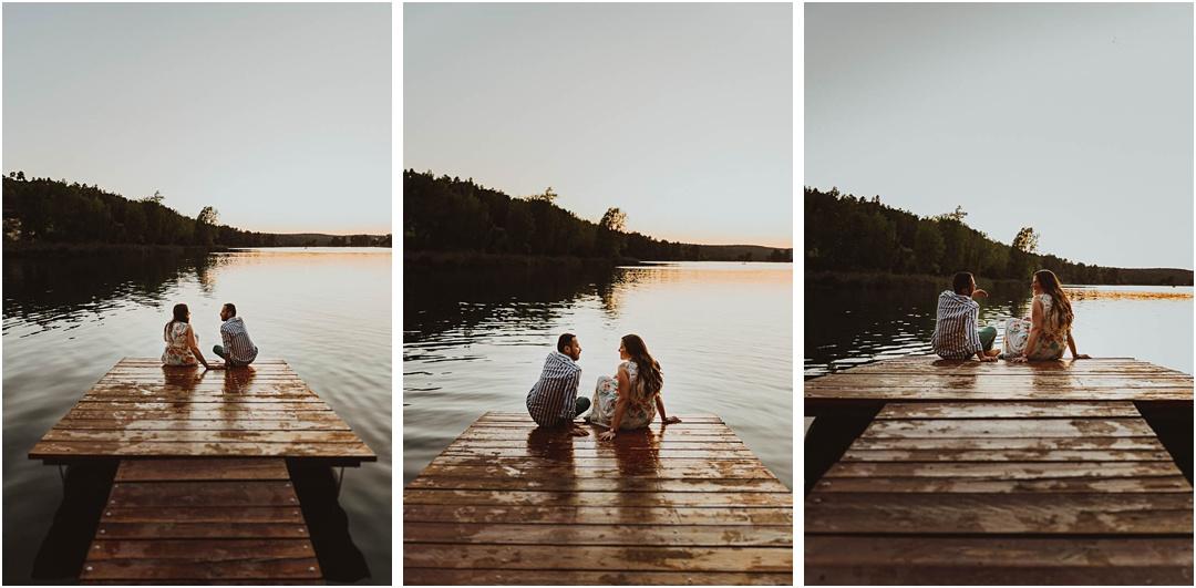 fotos de una pareja en el lago de las lagunas de ruidera, ciudad real