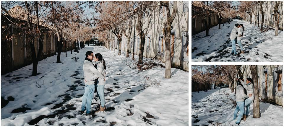 sesion de fotos pareja en la nieve almeria