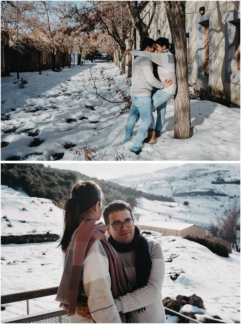 fotos de pareja en la nieve