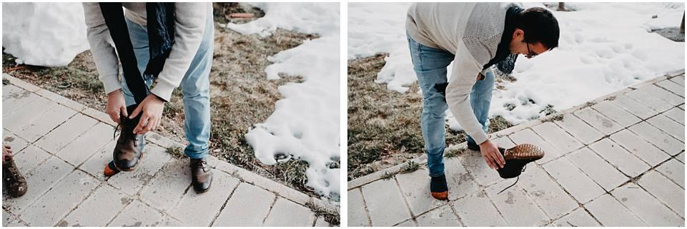 fotografias de pareja en la nieve