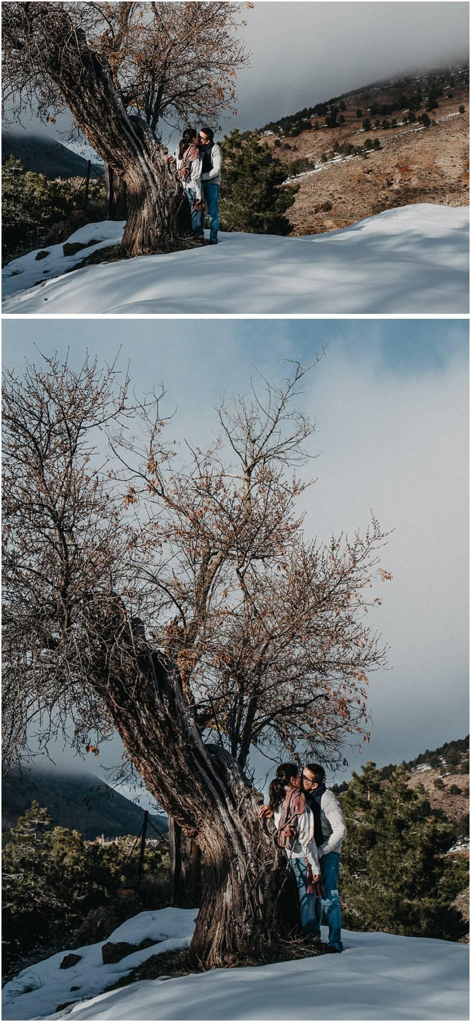 fotos de parejas en la nieve