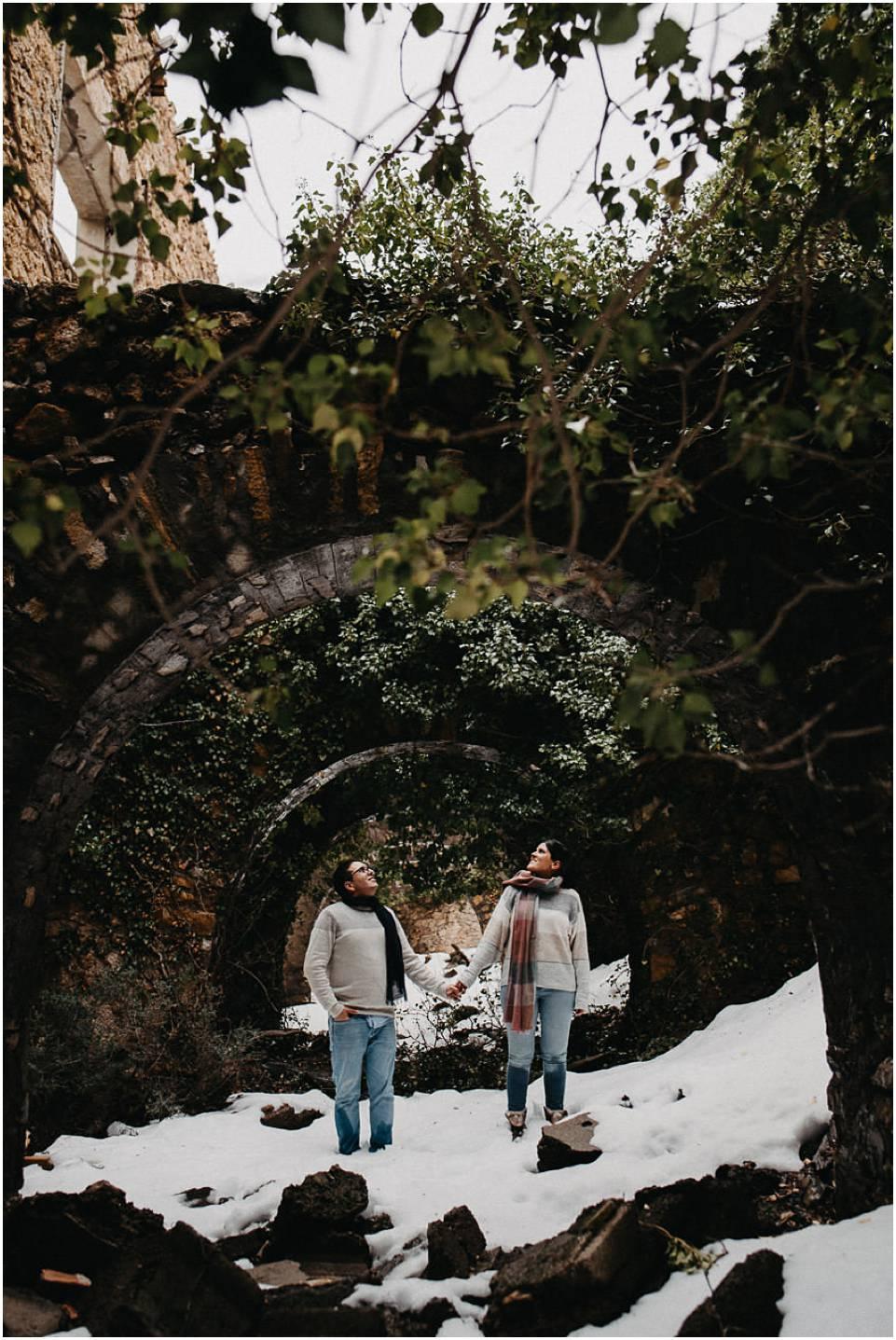 pareja en la nieve de almeria