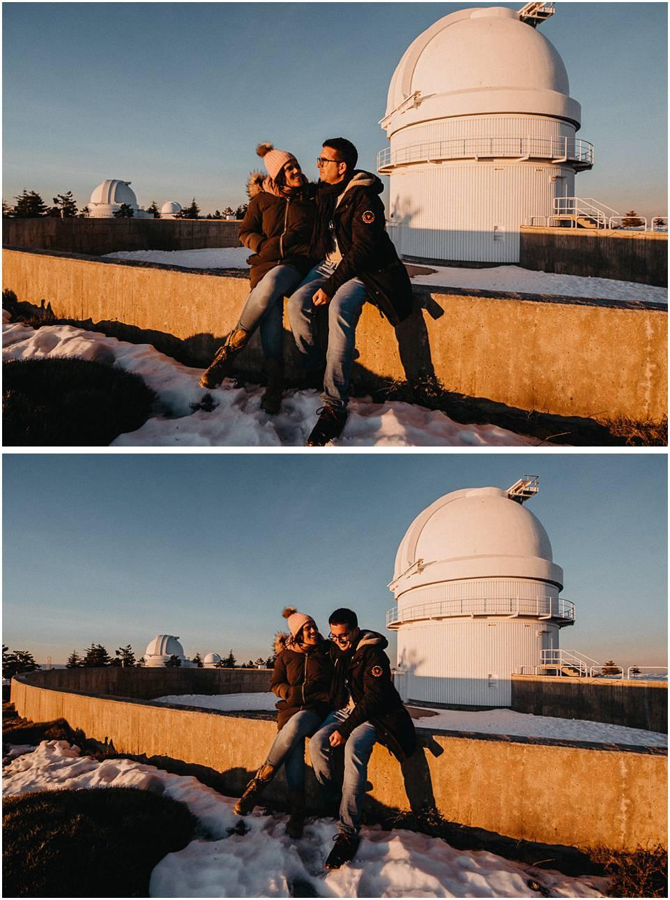 fotos de pareja en observatorio Calar Alto