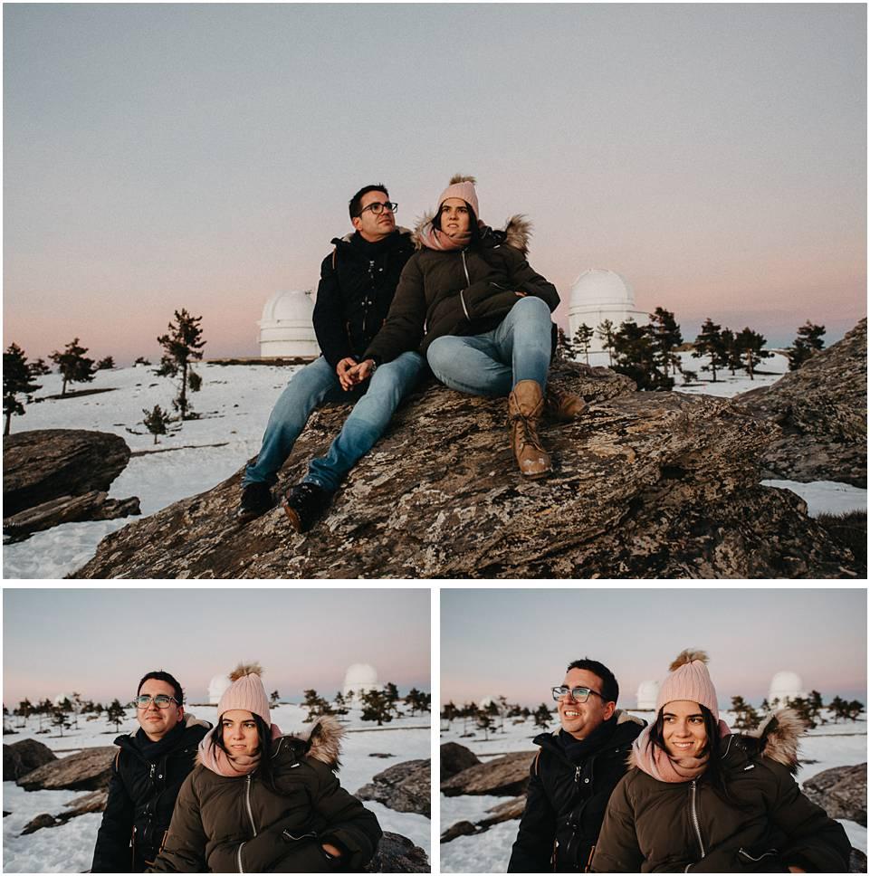 fotos de pareja en un observatorio astronomico