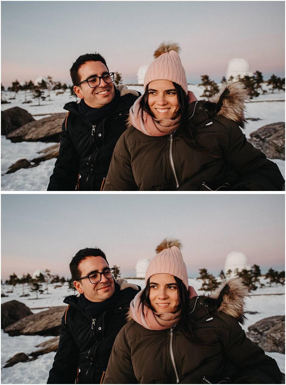 fotos de pareja en observatorio astronómico