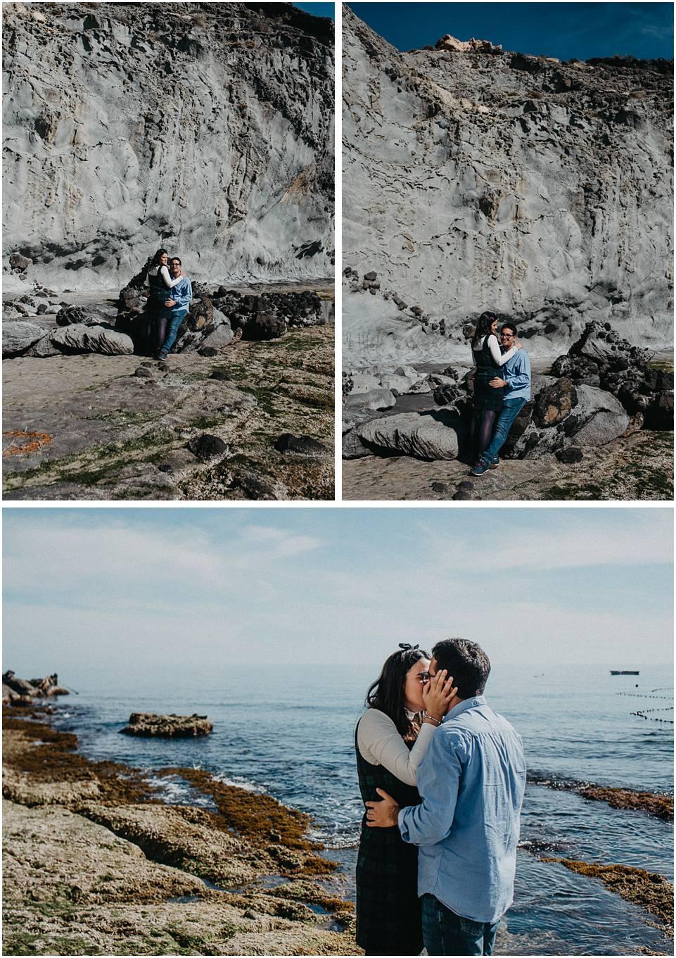 sesión de pareja en las playas de Almería