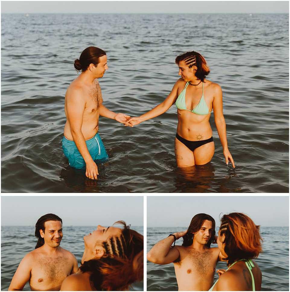sesion de pareja en la playa de almeria