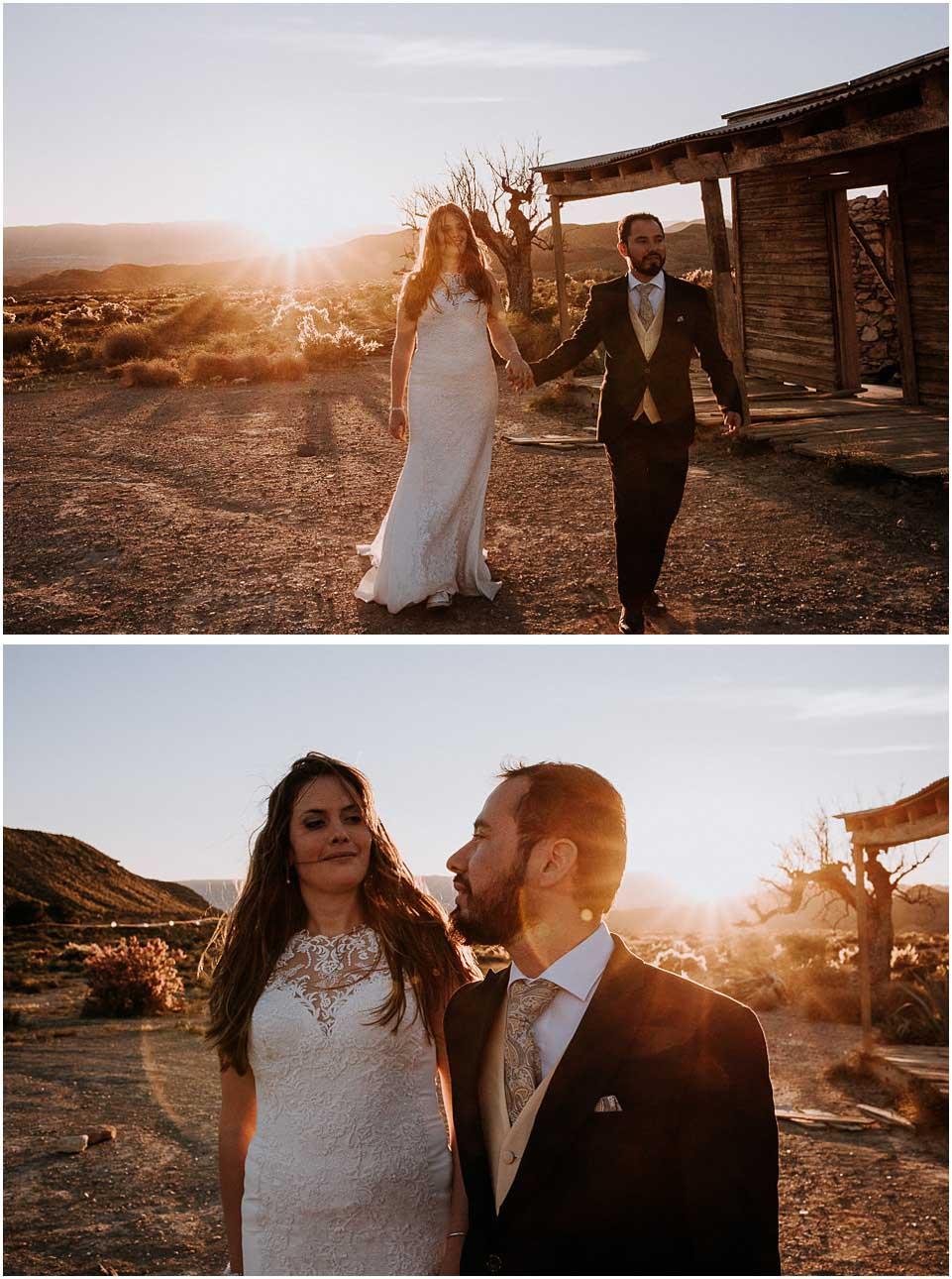 fotografia de postboda en el desierto de almeria