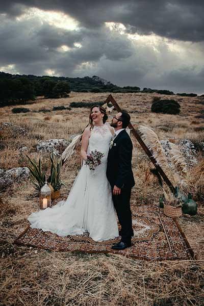 boda elopement al aire libre
