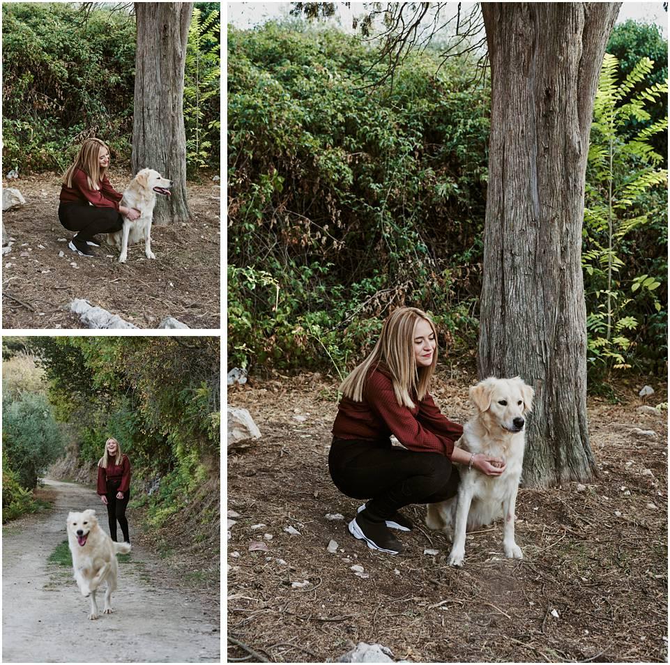 fotografia con mascota