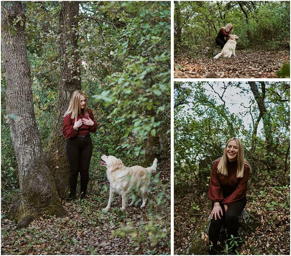 joven con Labrador Retriever